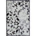 Transitional Gray Viscose/Chenille Accent Rug (2' x 3')