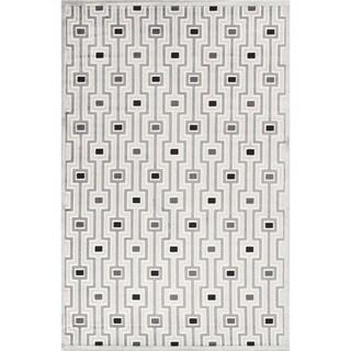 Modern Geometric Viscose/ Chenille Rug (9' x 12')