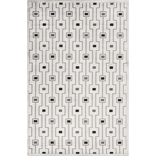 Modern Geometric Viscose/ Chenille Rug (7'6 x 9'6)