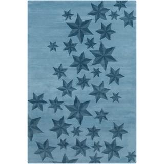 Allie Handmade Stars Pattern Wool Rug (5' x 7'6)