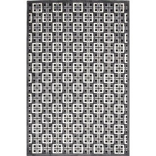 Contemporary Modern Geometric Viscose/Chenille Rug (7'6