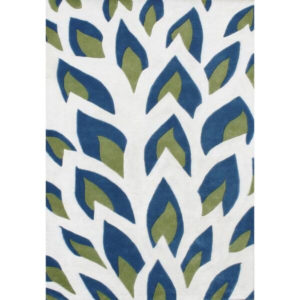 Alliyah Handmade Off White New Zealand Blend Wool Rug (9x12)