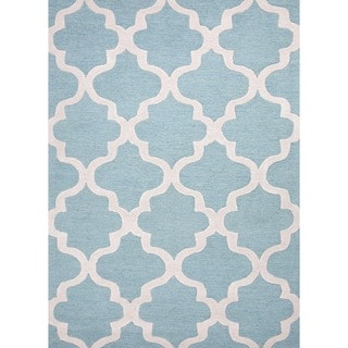 Hand-tufted Modern Geometric Wool Rug (9'6 x 13'6)