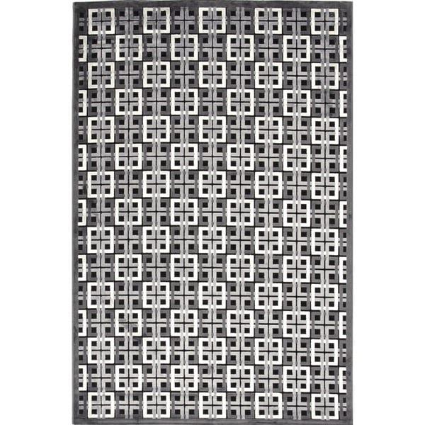 Modern Geometric Viscose/ Chenille Rug (2' x 3')