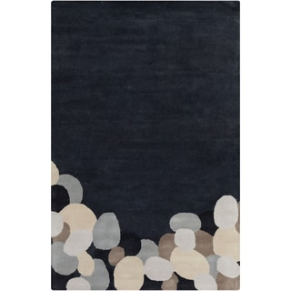 "Allie Handmade Abstract Grey Transitional Wool Rug (5' x 7' 6"")"