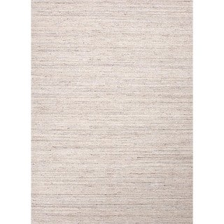 Hand-loomed Solid Ivory Wool Runner (2'6 x 8')