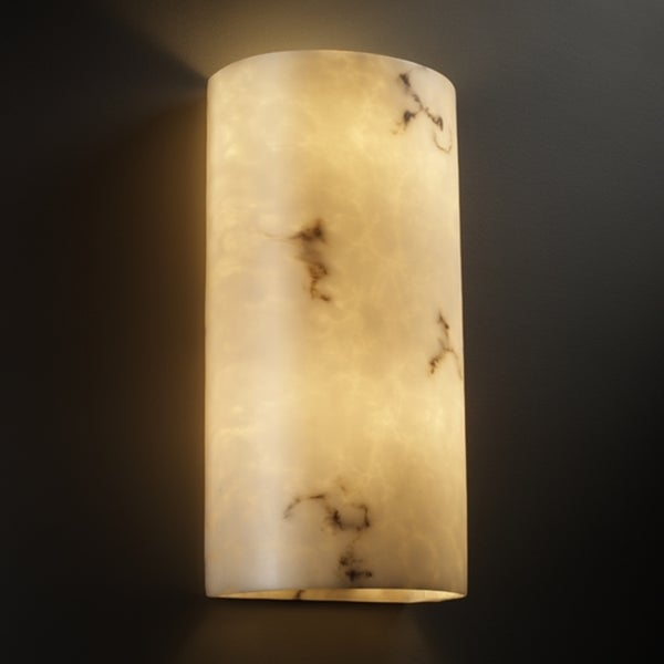 Justice Design Group 2-light Multi-directional Cylinder Faux Alabaster Wall Sconce