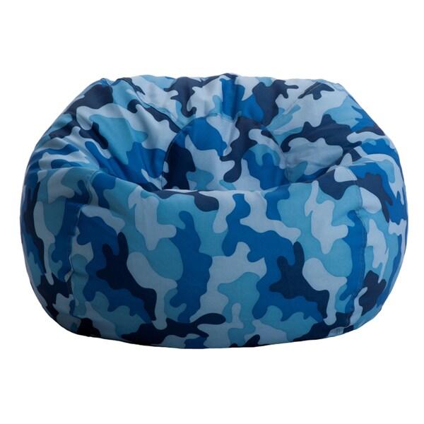 BeanSack Blue Camo Bean Bag Chair