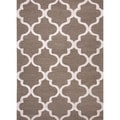 Hand-tufted Modern Geometric Wool Rug (8&#39; x 11&#39;)