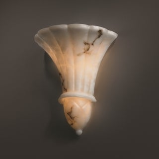 Justice Design Group 2-light Venezia Faux Alabaster Wall Sconce