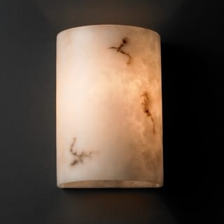 Justice Design Group 2-light Small Multi-directional Faux Alabaster Wall Sconce