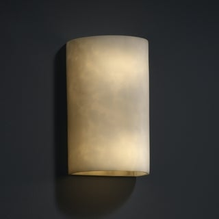 Justice Design Group 2-light Multi-directional Cylinder Resin Clouds Wall Sconce