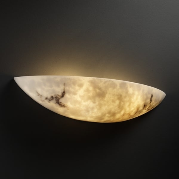 Justice Design Group 2-light Large Rounded Faux Alabaster Wall Sconce