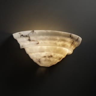 2-light Supreme Faux Alabaster Wall Sconce