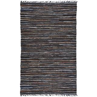 Hand Woven Matador Brown Stripe Rug (30 x 50)