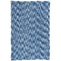 Shagadelic Blue Chenille Twist Swirl Rug (30 x 50)