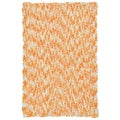 Shagadelic Orange Chenille Twist Swirl Rug (30x50)