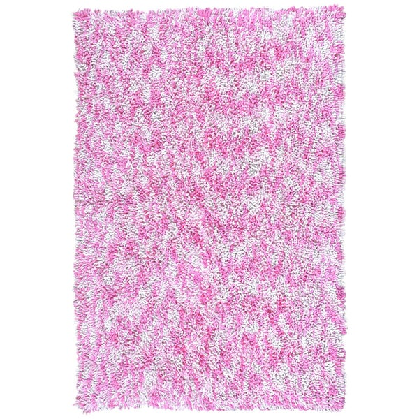 Pink Chenille Rug: Shagadelic Pink Chenille Twist Swirl Rug (4' X 6