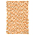 Orange Shagadelic Chenille Twist Swirl Rug (4' x 6')