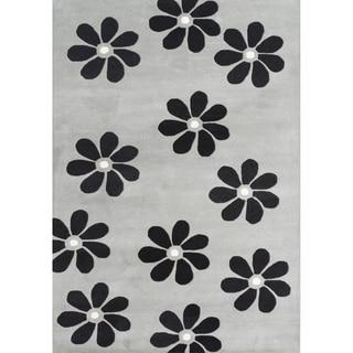 Alliyah Handmade Ash Grey New Zealand Blend Wool Rug (5' x 8')