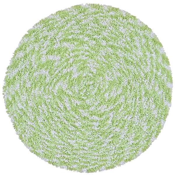 Green Shagadelic Chenille Twist Swirl Rug (5' Round)