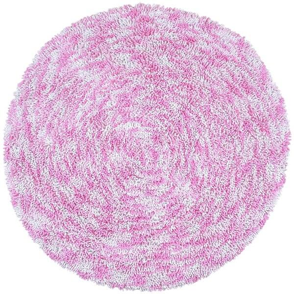 Pink Shagadelic Chenille Twist Swirl Rug (5' Round)