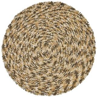 Brown Shagadelic Chenille Twist Swirl Rug (5' Round)