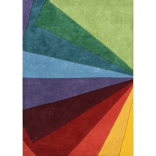 Hand-tufted Green Tea Wool Rug (5' x 8')