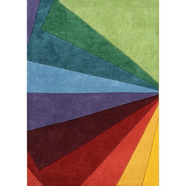 Alliyah Handmade Green Tea New Zealand Blend Wool Rug (5' x 8')