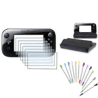 BasAcc Cradle Charger/ Screen Protector/ Stylus Set for Nintendo Wii U