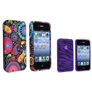 BasAcc TPU Rubber Skin Case for Apple iPhone 4/ 4S (Pack of 2)