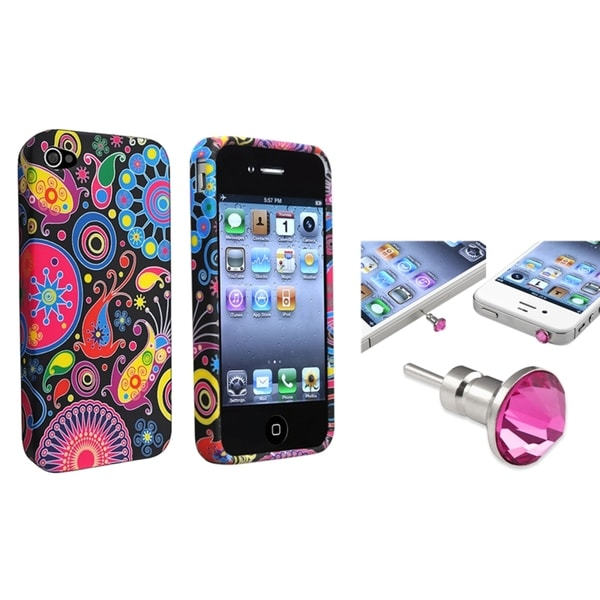 BasAcc TPU Case/ Pink Diamond Headset for Apple iPhone 4/ 4S