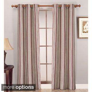 Lightweight Canvas Stripe Curtain Panel Pair