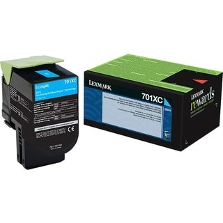Lexmark 701XC Cyan Extra High Yield Return Program Toner Cartridge