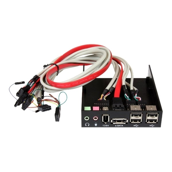 StarTech.com 3.5in Black Multi Port Panel for Front Drive Bay with HD