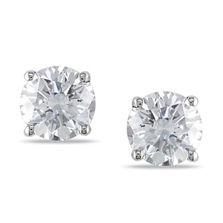 Miadora 14k White Gold 1 1/2ct TDW Diamond Stud Earrings (G-H, SI1-SI2)
