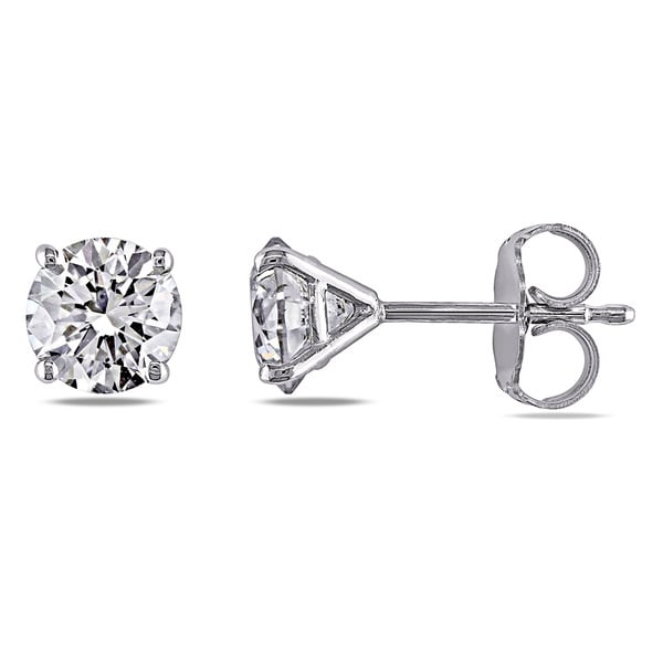 Miadora Signature Collection 14k White Gold 1 1/2ct TDW Diamond Stud Earrings (G-H, SI1-SI2)