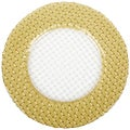 'Glass Braid' 6-piece Gold/ Clear Charger Plate Set