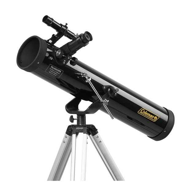 Coleman Astrowatch 700x76mm Reflector Telescope with Carrying Case and Starry Night CD Software