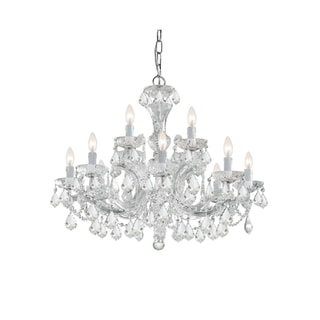 Maria Theresa 12-light Polished Chrome Chandelier