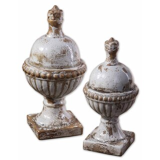Uttermost 'Sini' Finials Accent Pieces (Set of 2)