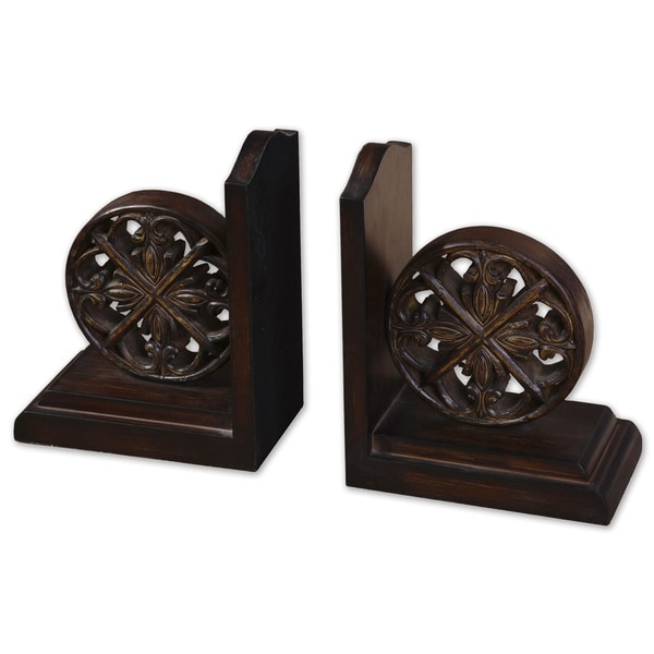 Uttermost Chakra MDF/ Resin Bookends (Set of 2)
