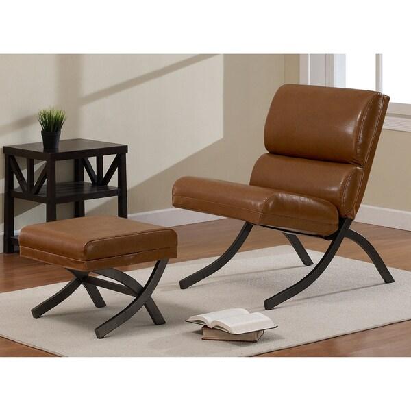Rialto Camel Chair and Ottoman