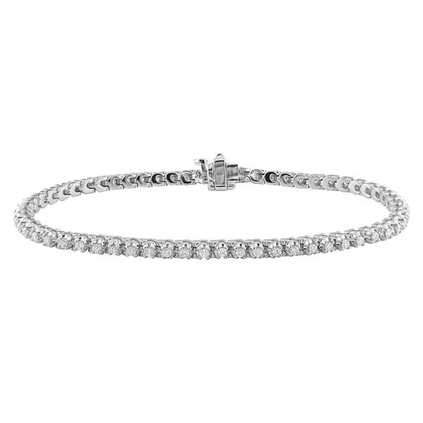 Miadora Signature Collection 14k White Gold 7/8ct TDW Diamond Bracelet (G-H, SI1-SI2)