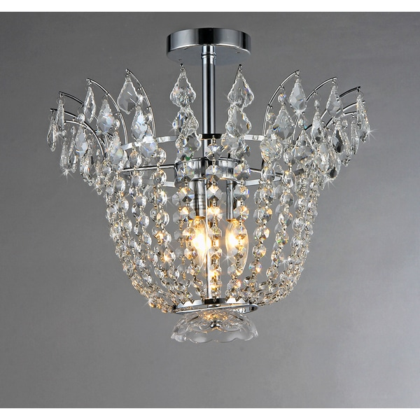 Astrid Crystal 4-light Chrome Hanging Pendant
