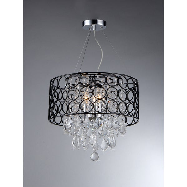 Anna Crystal 3-light Chandelier