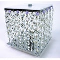 Cynthia Purple Crystal 2-light Chrome Table Lamp
