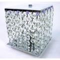 Cynthia Purple Crystal 2-light Chrome Table Lamp