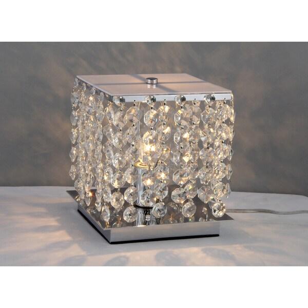 Cynthia Crystal 2-light Chrome Table Lamp