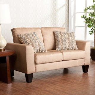 Ascot Mocha Stationary Loveseat